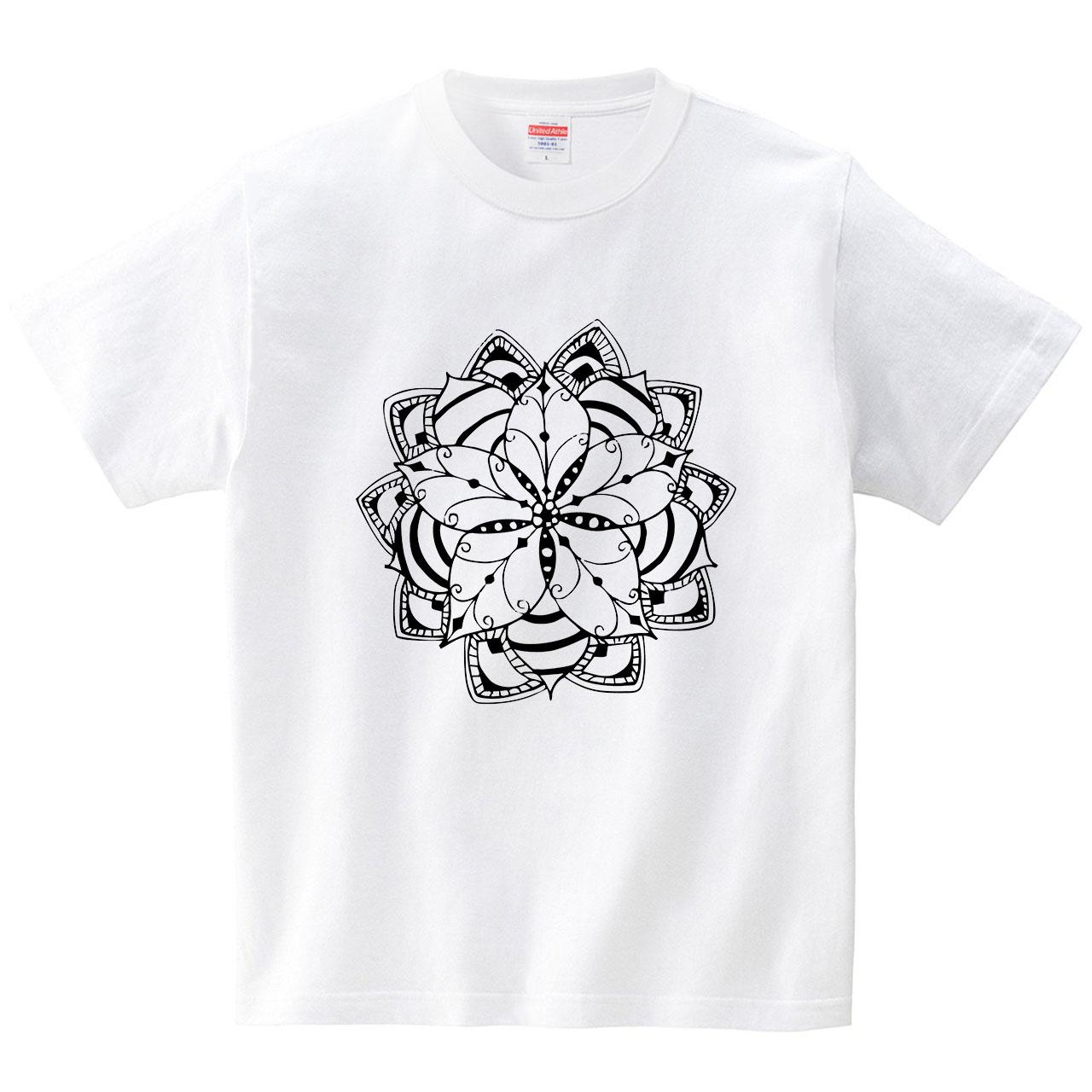 ポインセチアのコンポジション(Tシャツ・ホワイト)(古山敏明)