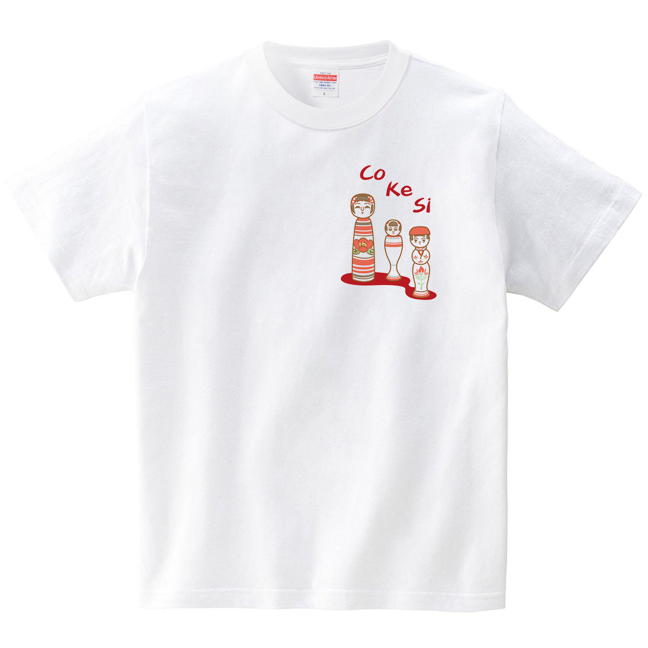 こけしT(Tシャツ・ホワイト)(ミツトモ)