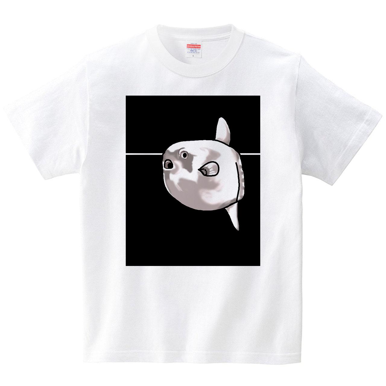 ピーン!(Tシャツ・ホワイト)(あおまんぼう)