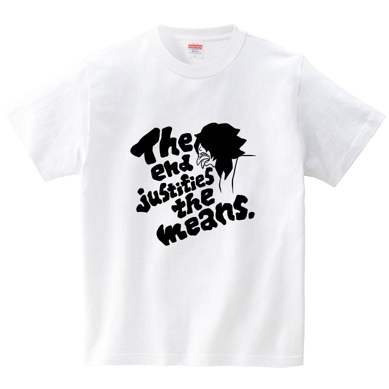 二枚舌(黒)(Tシャツ・ホワイト)(祐木すずこ)