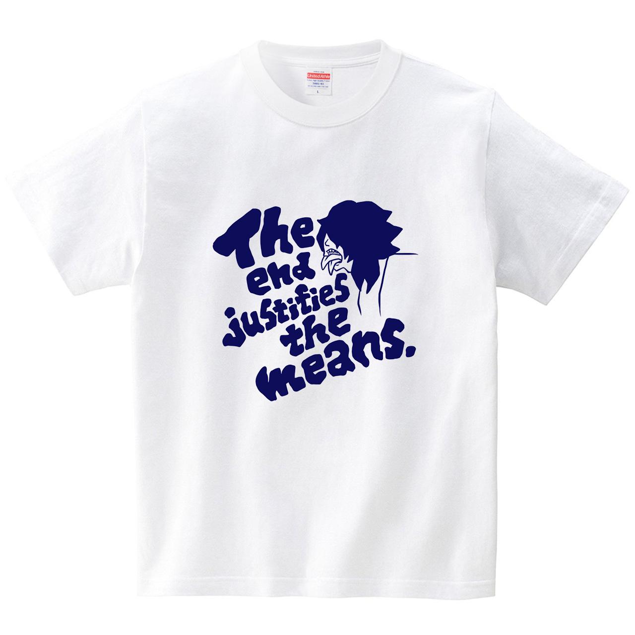 二枚舌(紺)(Tシャツ・ホワイト)(祐木すずこ)