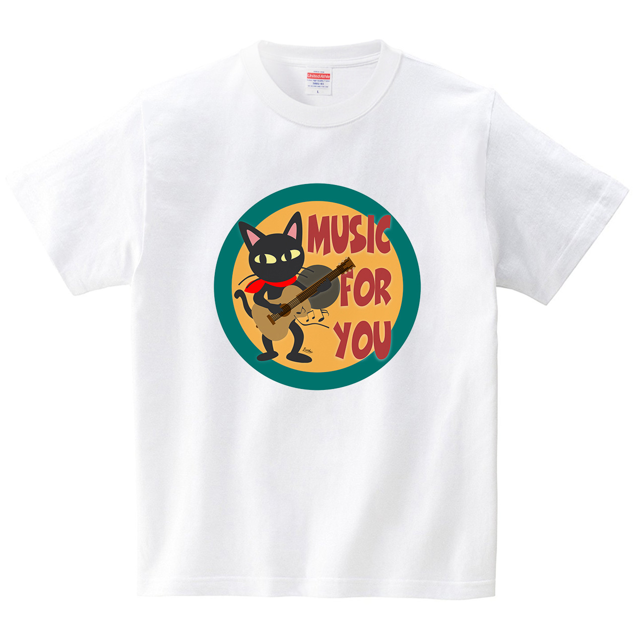 Music for you(Tシャツ・ホワイト)(BATKEI)