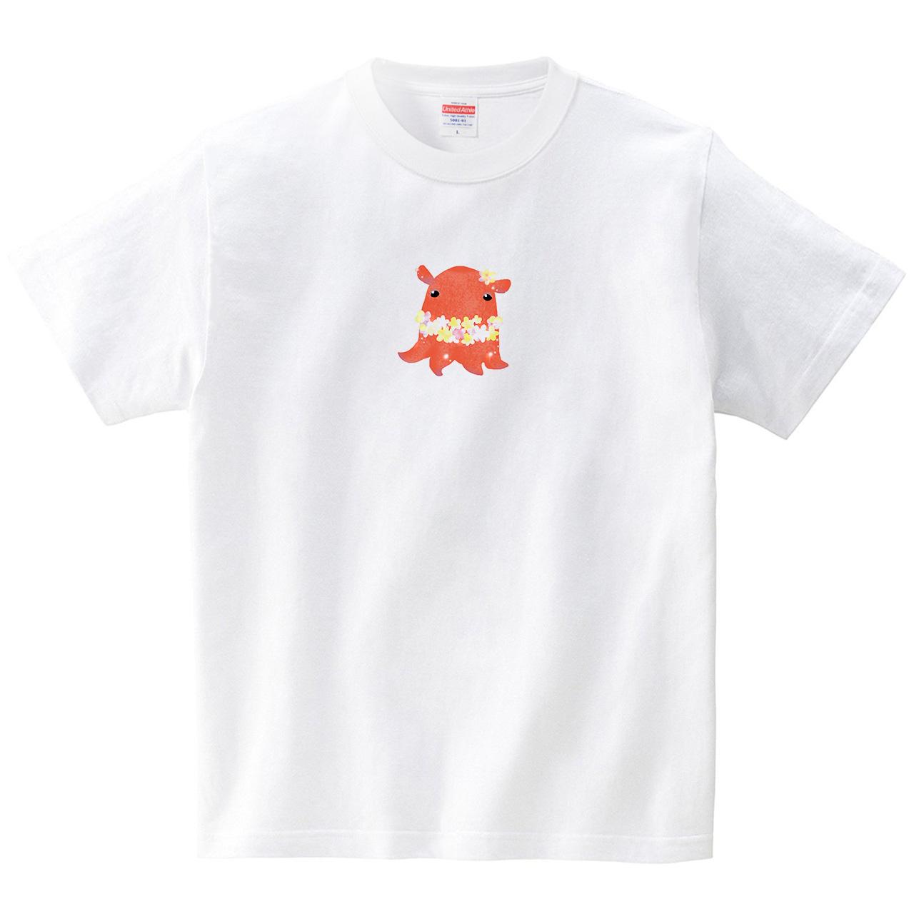 オトメンダコ(Tシャツ・ホワイト)(あおまんぼう)