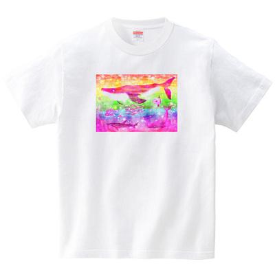 にじいろ(Tシャツ・ホワイト)(あおまんぼう)