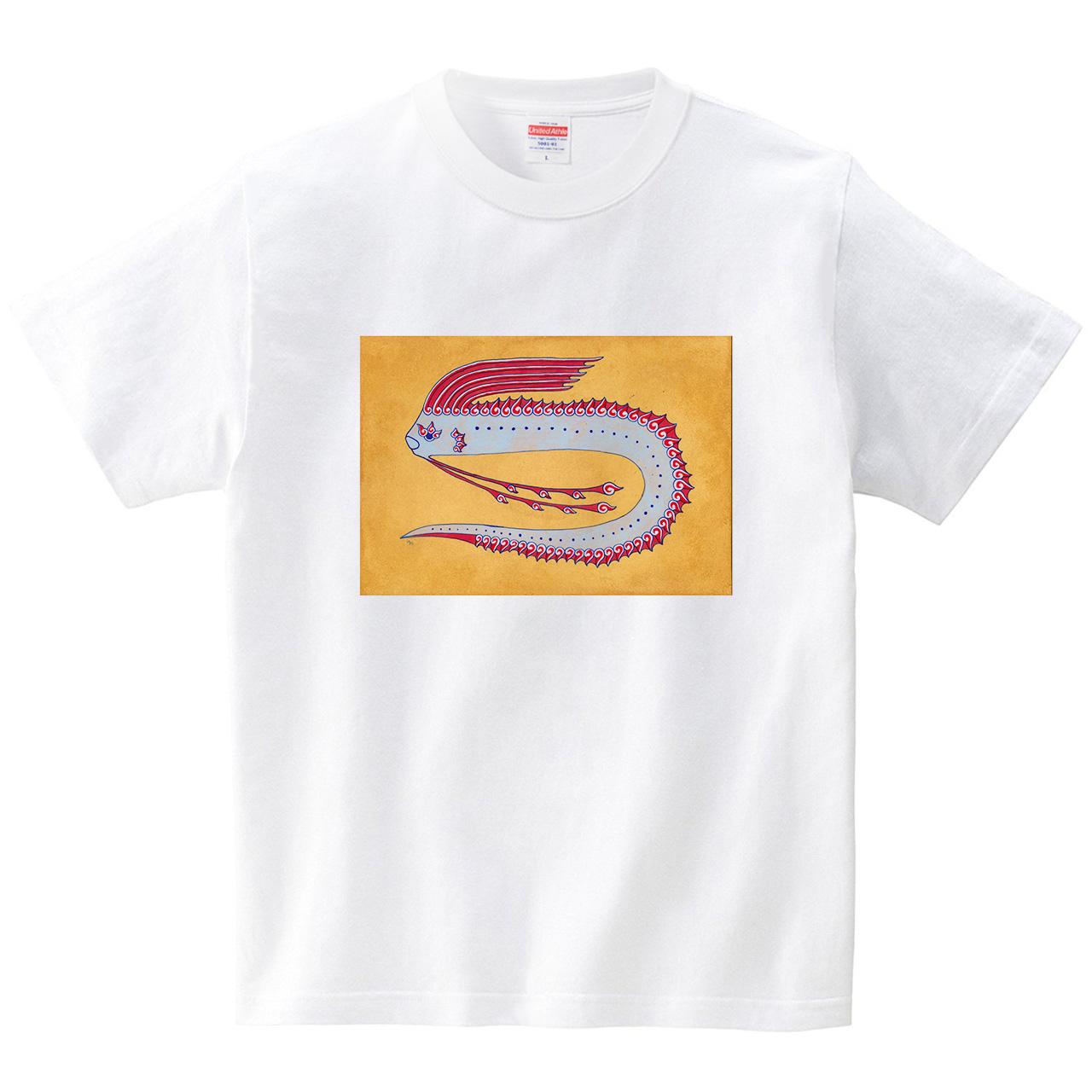 深海生物 リュウグウノツカイ。(Tシャツ・ホワイト)(蟲人)