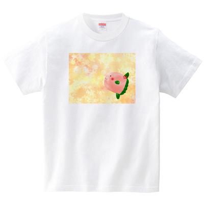 桜マンボウ(Tシャツ・ホワイト)(あおまんぼう)
