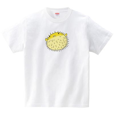 ハリセンボン(Tシャツ・ホワイト)(あおまんぼう)