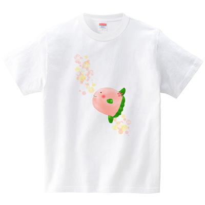 春いろ・桜マンボウ(Tシャツ・ホワイト)(あおまんぼう)