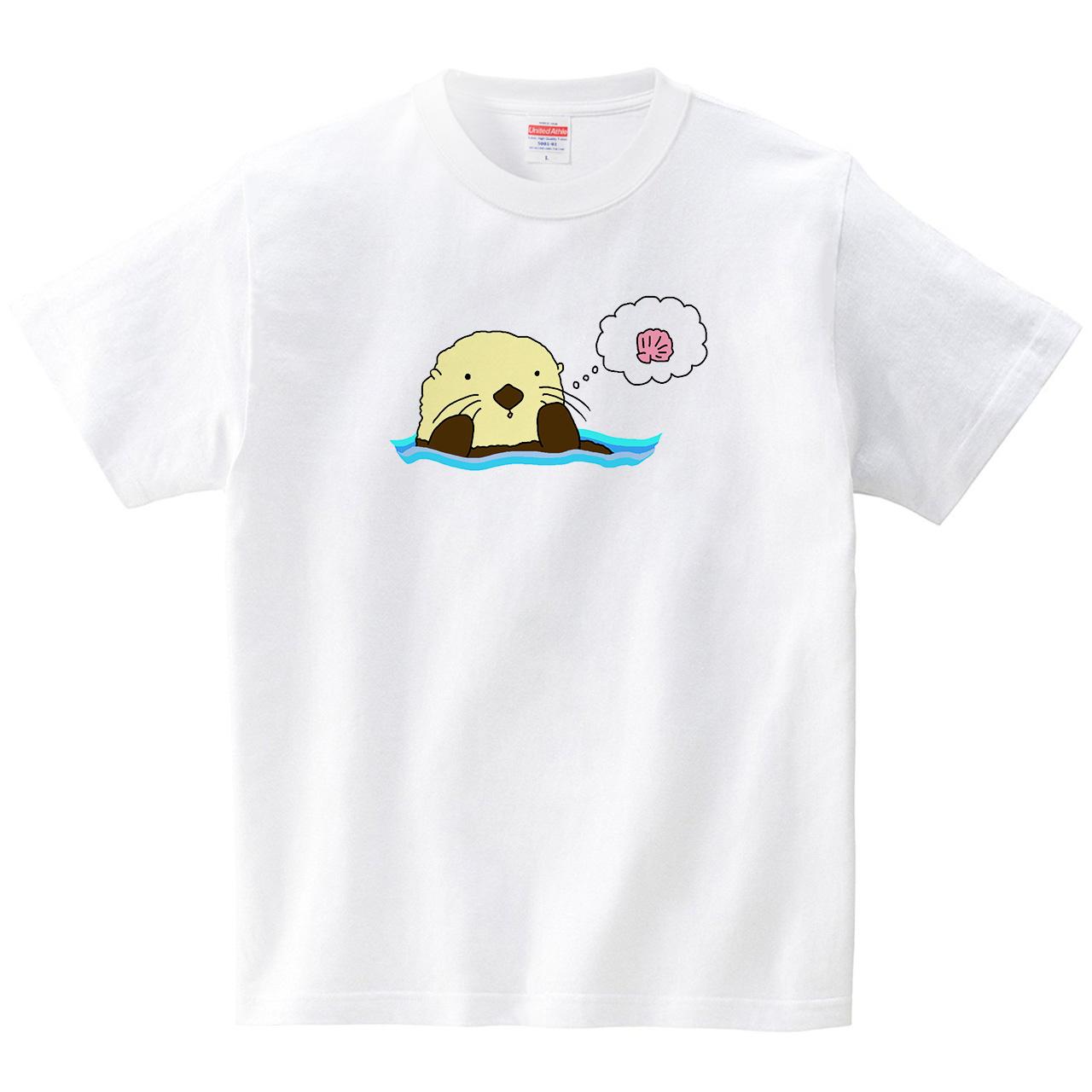 ラッコ(Tシャツ・ホワイト)(あおまんぼう)