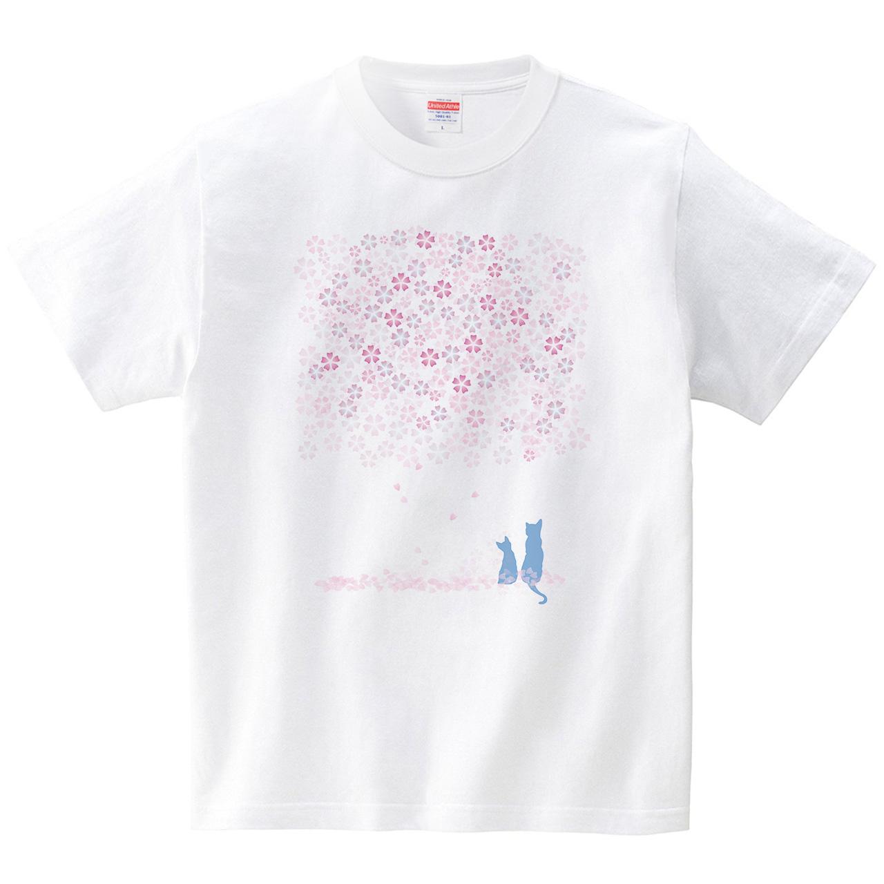 さくらねこ(Tシャツ・ホワイト)(未希)