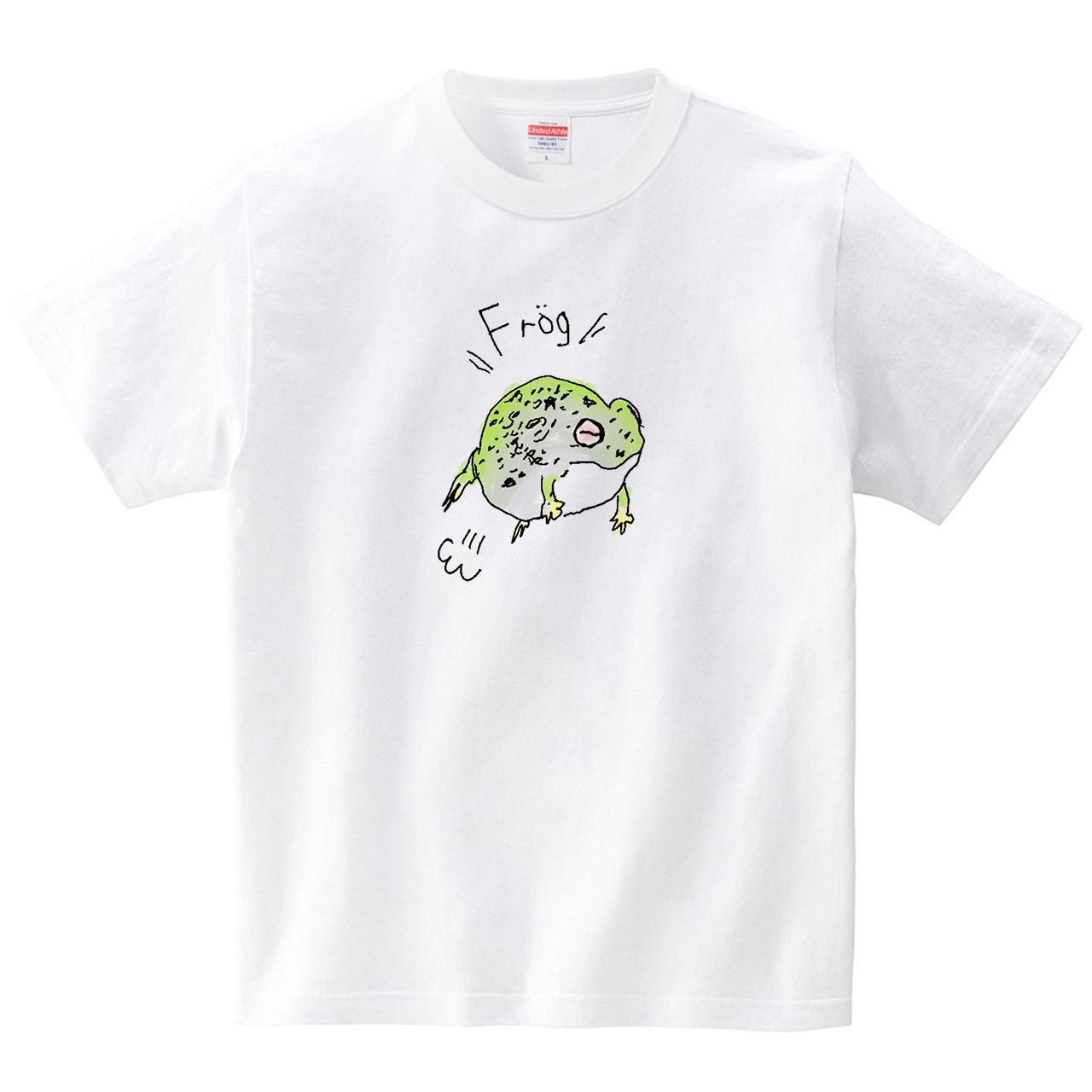 カエル(Tシャツ・ホワイト)(SUMIRE)