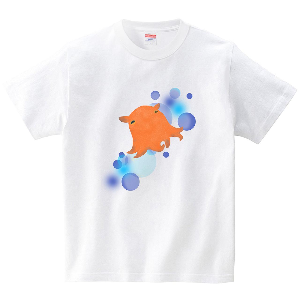 たゆたうメンダコ(Tシャツ・ホワイト)(あおまんぼう)
