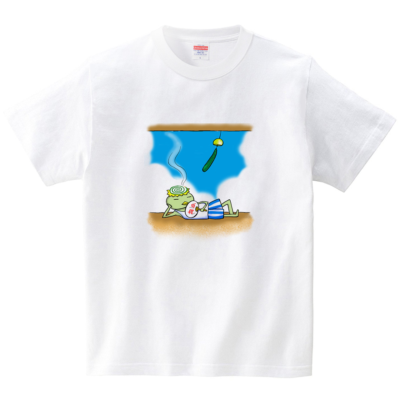 蚊取り線香カッパ(Tシャツ・ホワイト)(あおまんぼう)