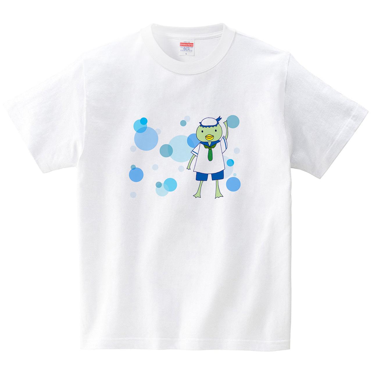 セーラーかっぱ(Tシャツ・ホワイト)(あおまんぼう)