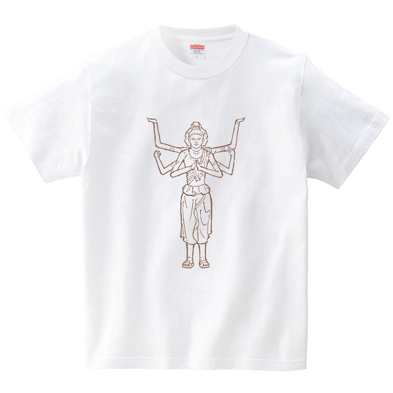 ハテナポップ 阿修羅(Tシャツ・ホワイト)(tsukamotojunko)
