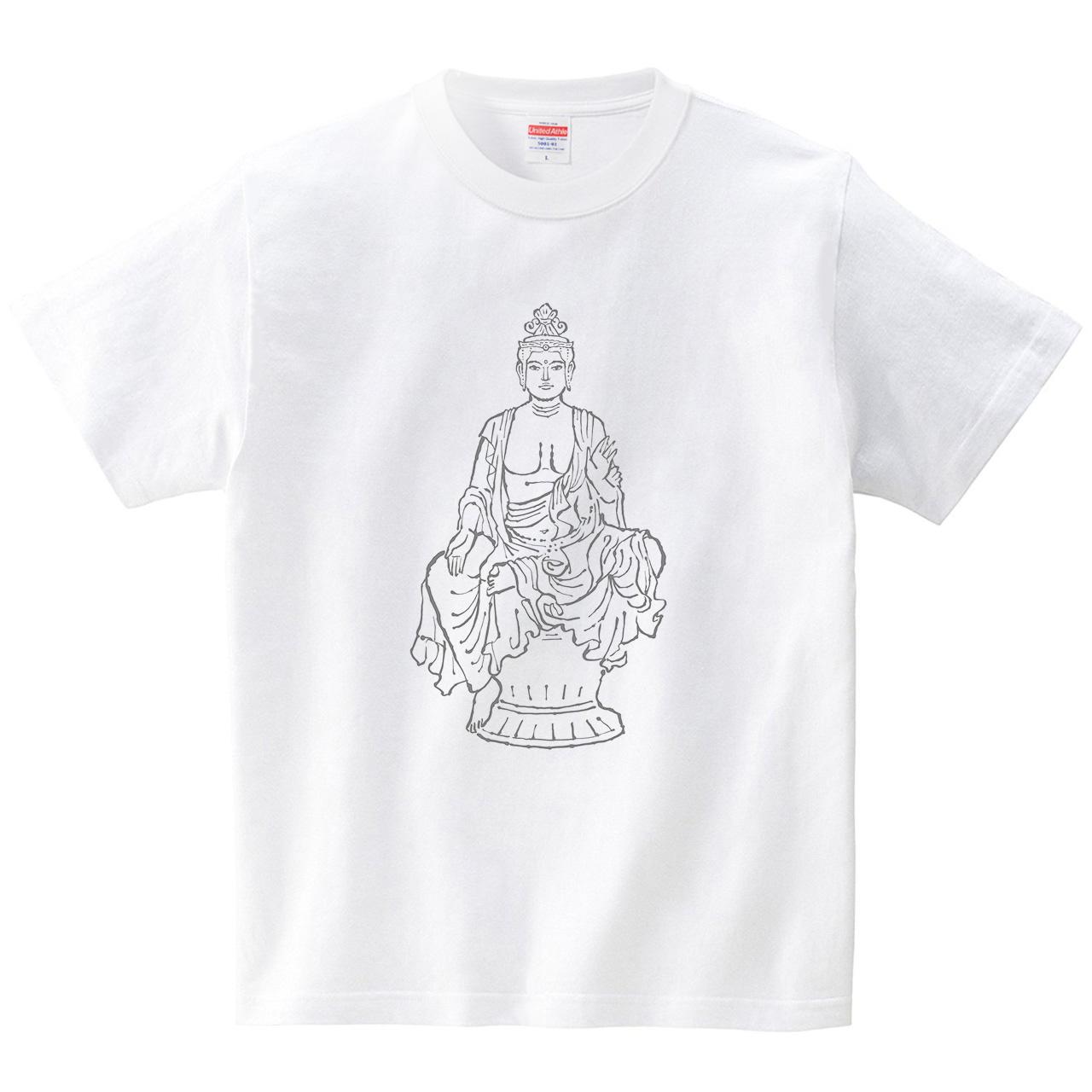 ハテナポップ 観音菩薩(Tシャツ・ホワイト)(tsukamotojunko)