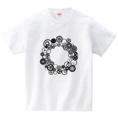 歯車円・1(Tシャツ・ホワイト)(冴木みやこ)