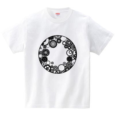 歯車円・2(Tシャツ・ホワイト)(冴木みやこ)