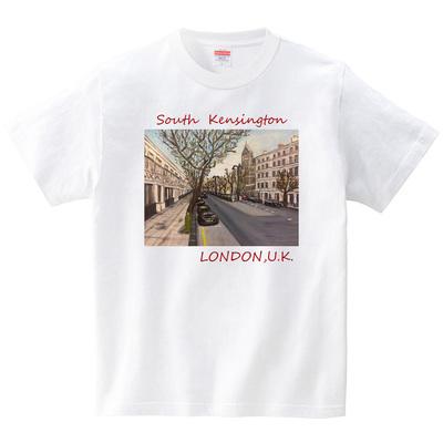 サウスケンジントンの街並み(イギリス・ロンドン)(Tシャツ・ホワイト)(TOYPOO)