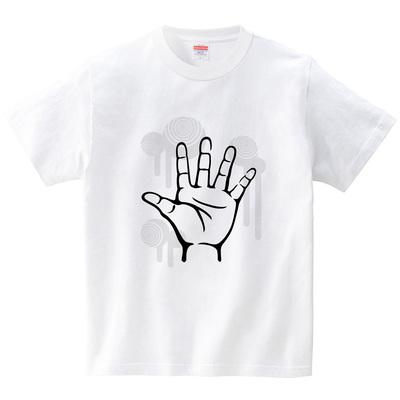 ハテナポップ じゃんけんパー(Tシャツ・ホワイト)(tsukamotojunko)