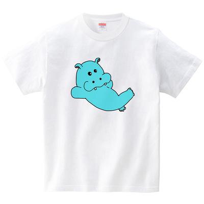 ごろごろかばさん(Tシャツ・ホワイト)(TOYPOO)
