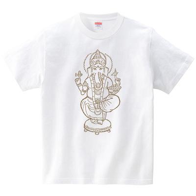 ハテナポップ ガネーシャ1(Tシャツ・ホワイト)(tsukamotojunko)