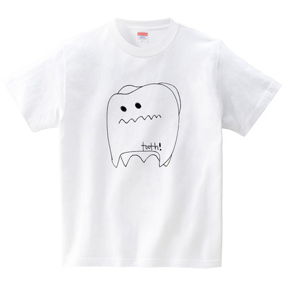 歯(tooth)(Tシャツ・ホワイト)(SUMIRE)