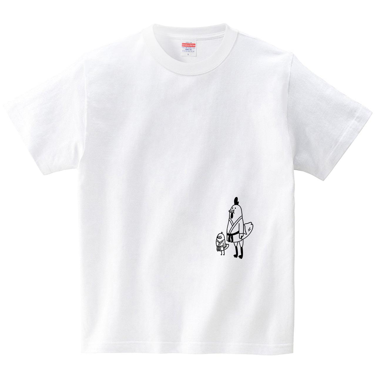ニワトリとヒヨコ(Tシャツ・ホワイト)(オワリ)