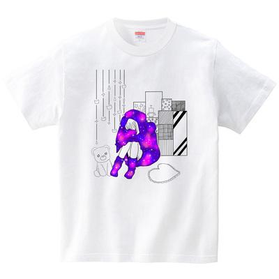 宇宙パーカー(Tシャツ・ホワイト)(桃原)