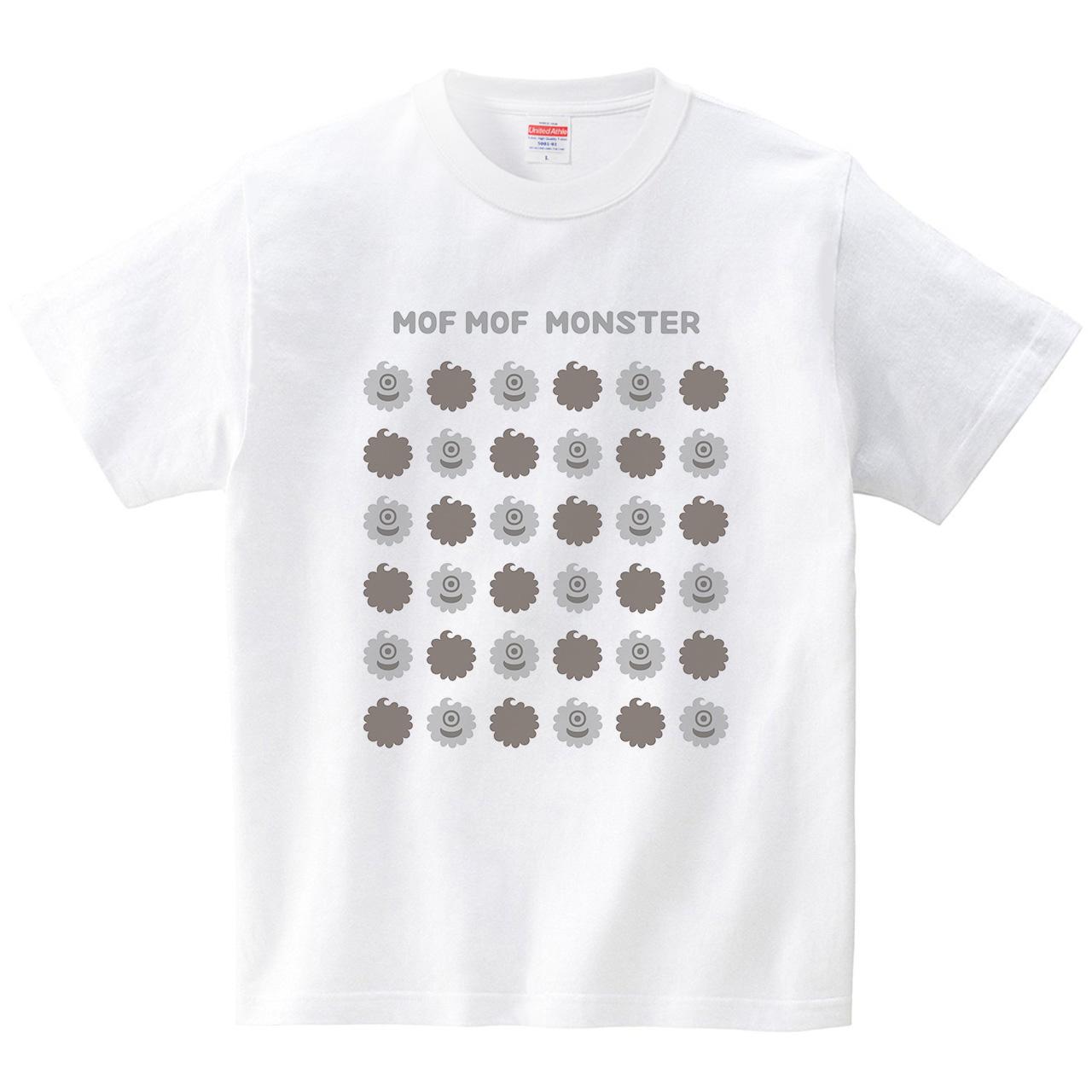 ハテナポップ モフモフモンスター1(Tシャツ・ホワイト)(tsukamotojunko)