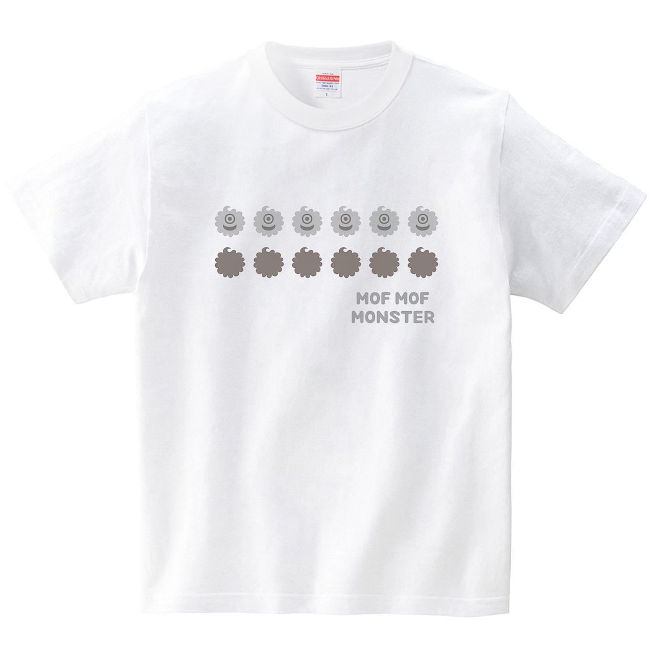 ハテナポップ モフモフモンスター2(Tシャツ・ホワイト)(tsukamotojunko)