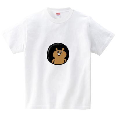 穴の中にクマ(Tシャツ・ホワイト)(オワリ)