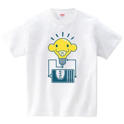 ヒラメキ電球(Tシャツ・ホワイト)(ROBO 66号)