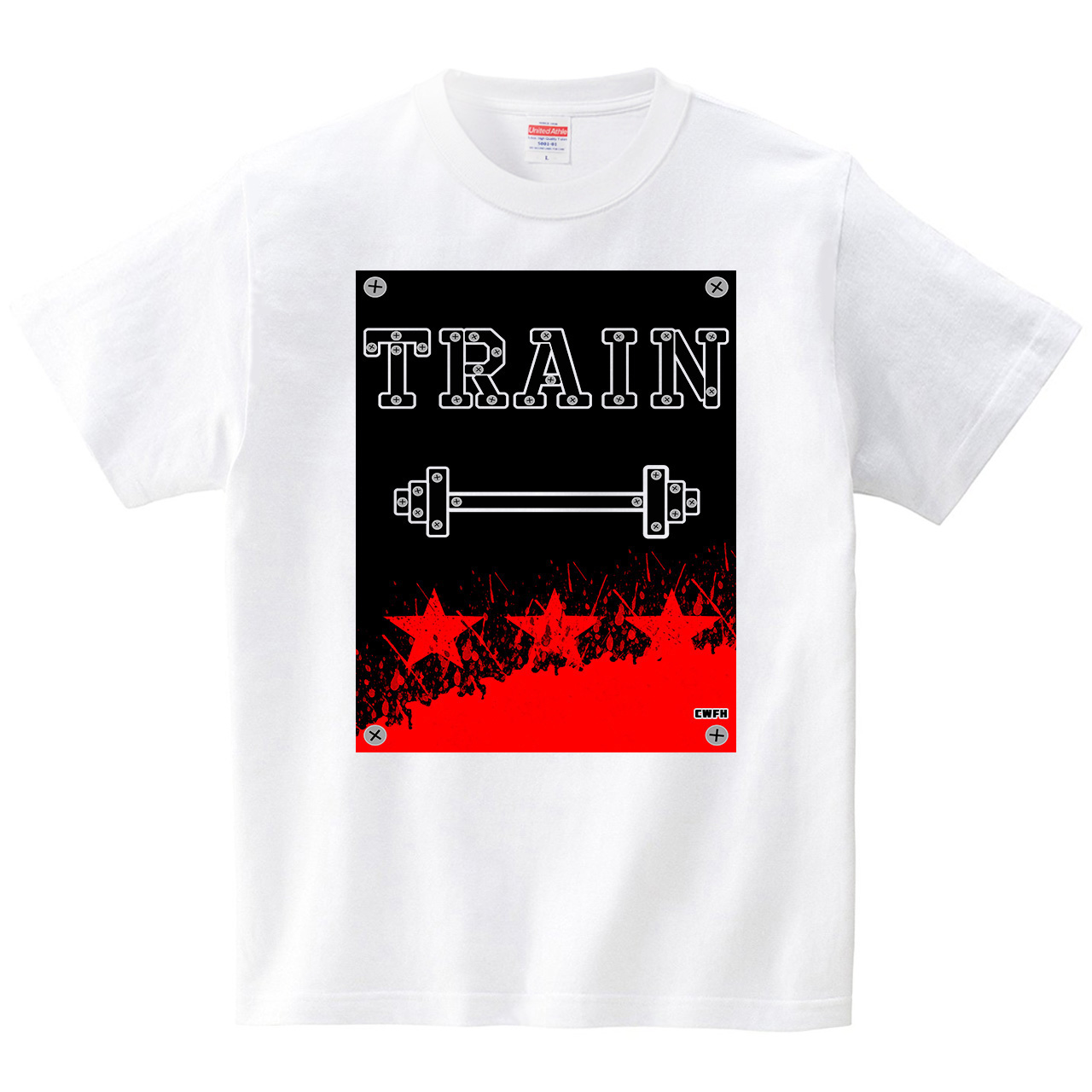 TRAIN(Tシャツ・ホワイト)(貢利宋)