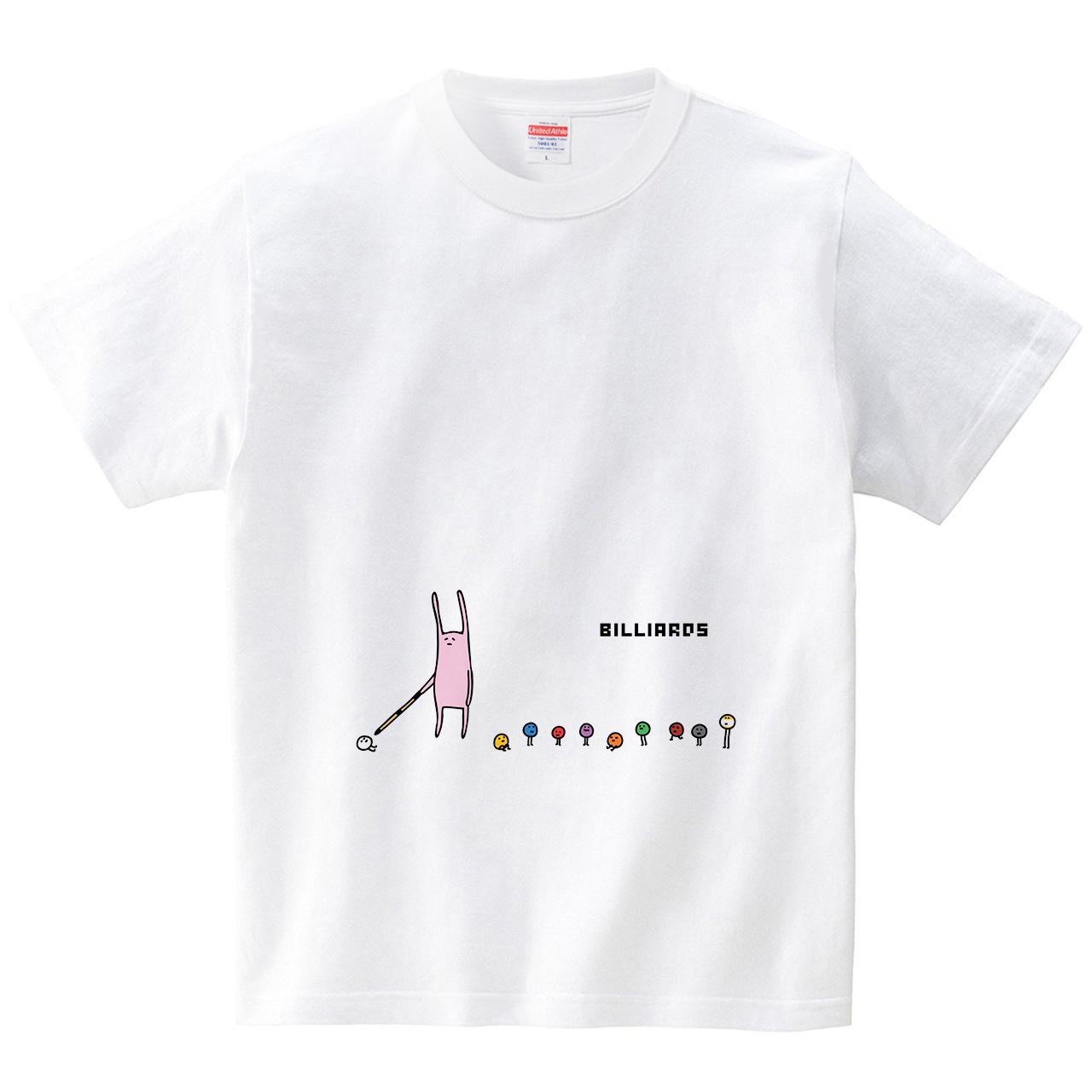 ビリヤードのボールが集まる(Tシャツ・ホワイト)(オワリ)