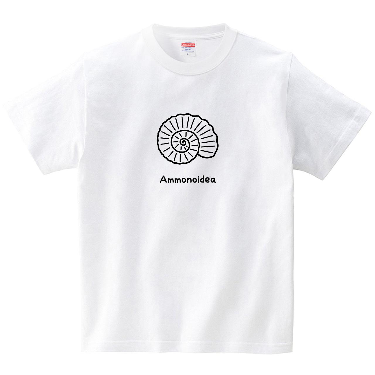 ハテナポップ アンモナイト(Tシャツ・ホワイト)(tsukamotojunko)
