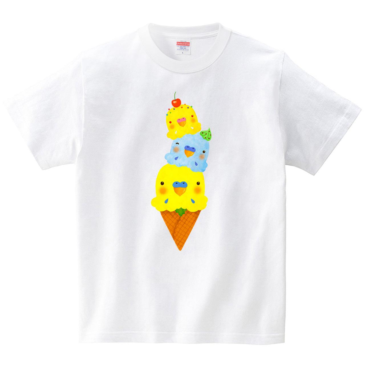 アイスインコ(Tシャツ・ホワイト)(イシイミホ)