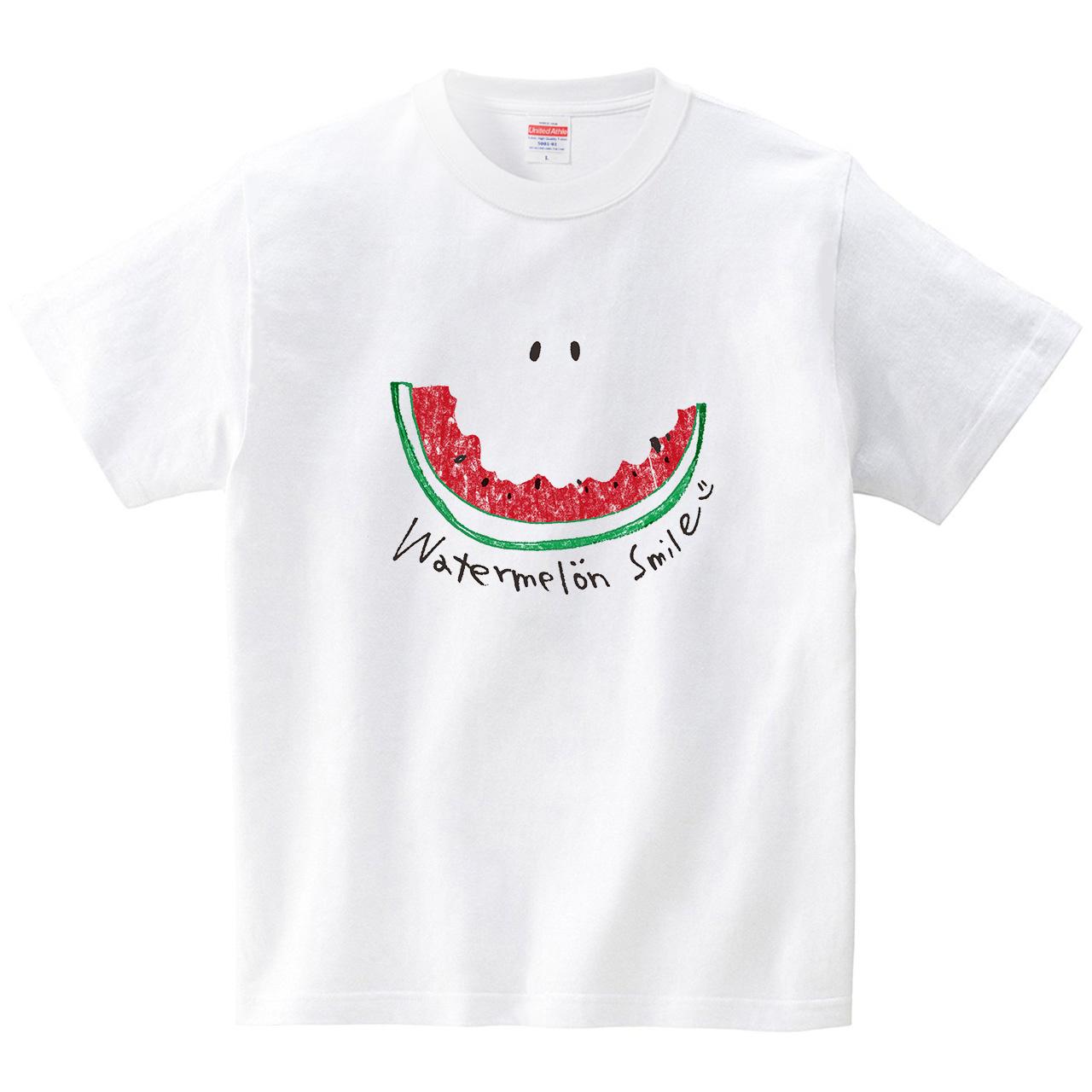 スイカスマイル(Tシャツ・ホワイト)(SUMIRE)