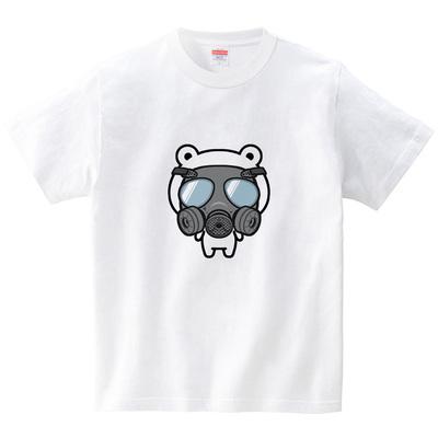 ガスマス熊(Tシャツ・ホワイト)(STUDIO TOYA)