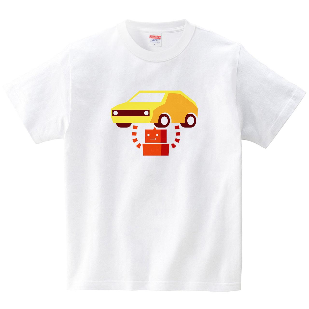 シンプルロボT パワー(Tシャツ・ホワイト)(birnimal)