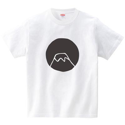 山(Tシャツ・ホワイト)(CHATON_CATON_T)