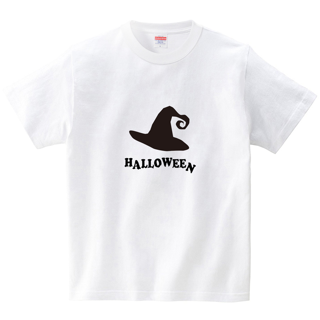 ハロウィン帽子(Tシャツ・ホワイト)(CHATON_CATON_T)