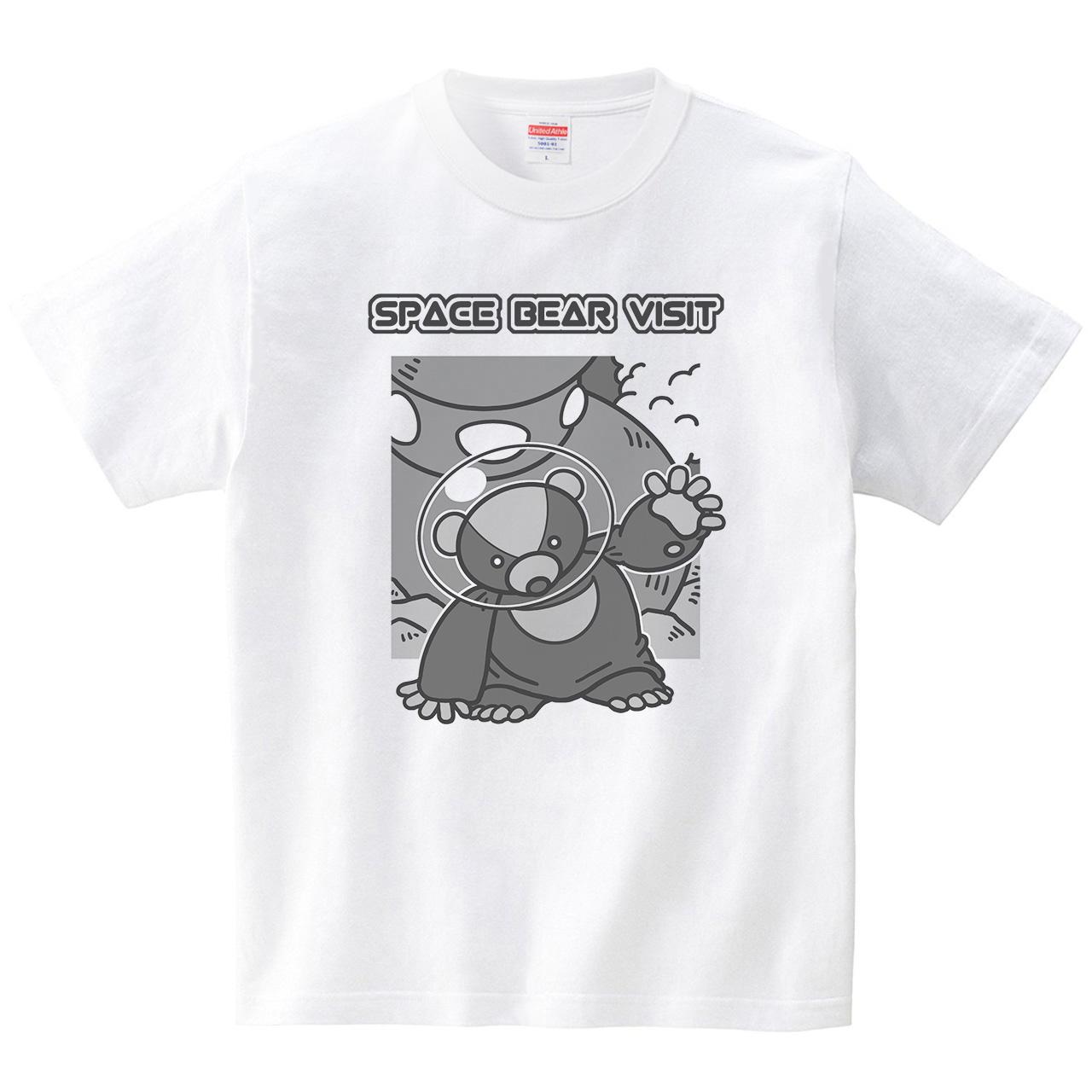 宇宙クマ来訪(Tシャツ・ホワイト)(ROBO 66号)