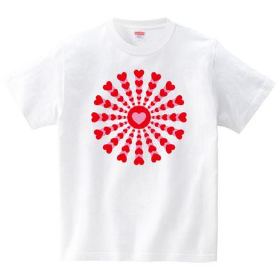 ハート花火(Tシャツ・ホワイト)(梅川紀美子)