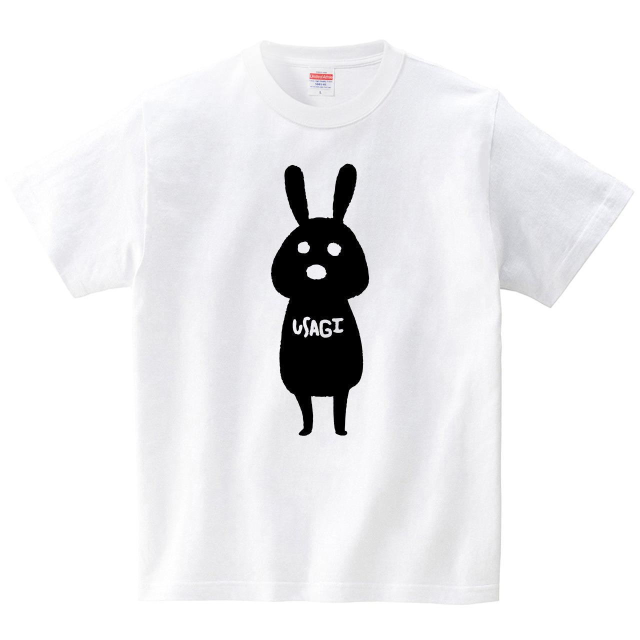 BLACK USAGI(Tシャツ・ホワイト)(ぶひめ)
