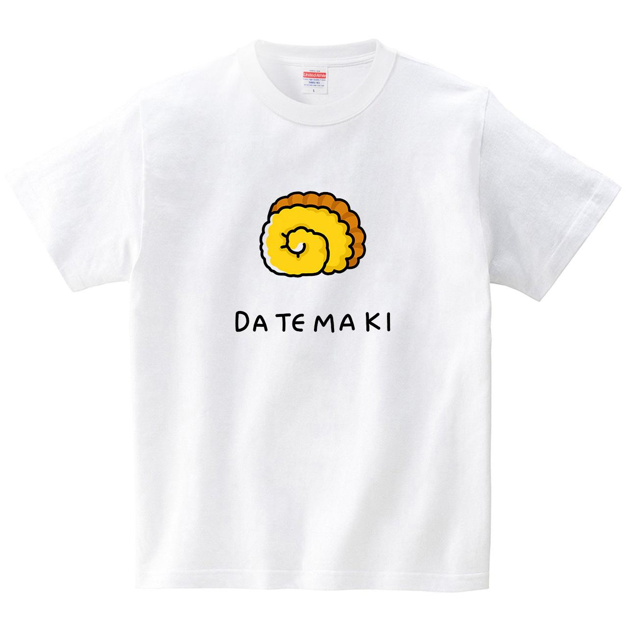 だてまき(Tシャツ・ホワイト)(tsukamotojunko)