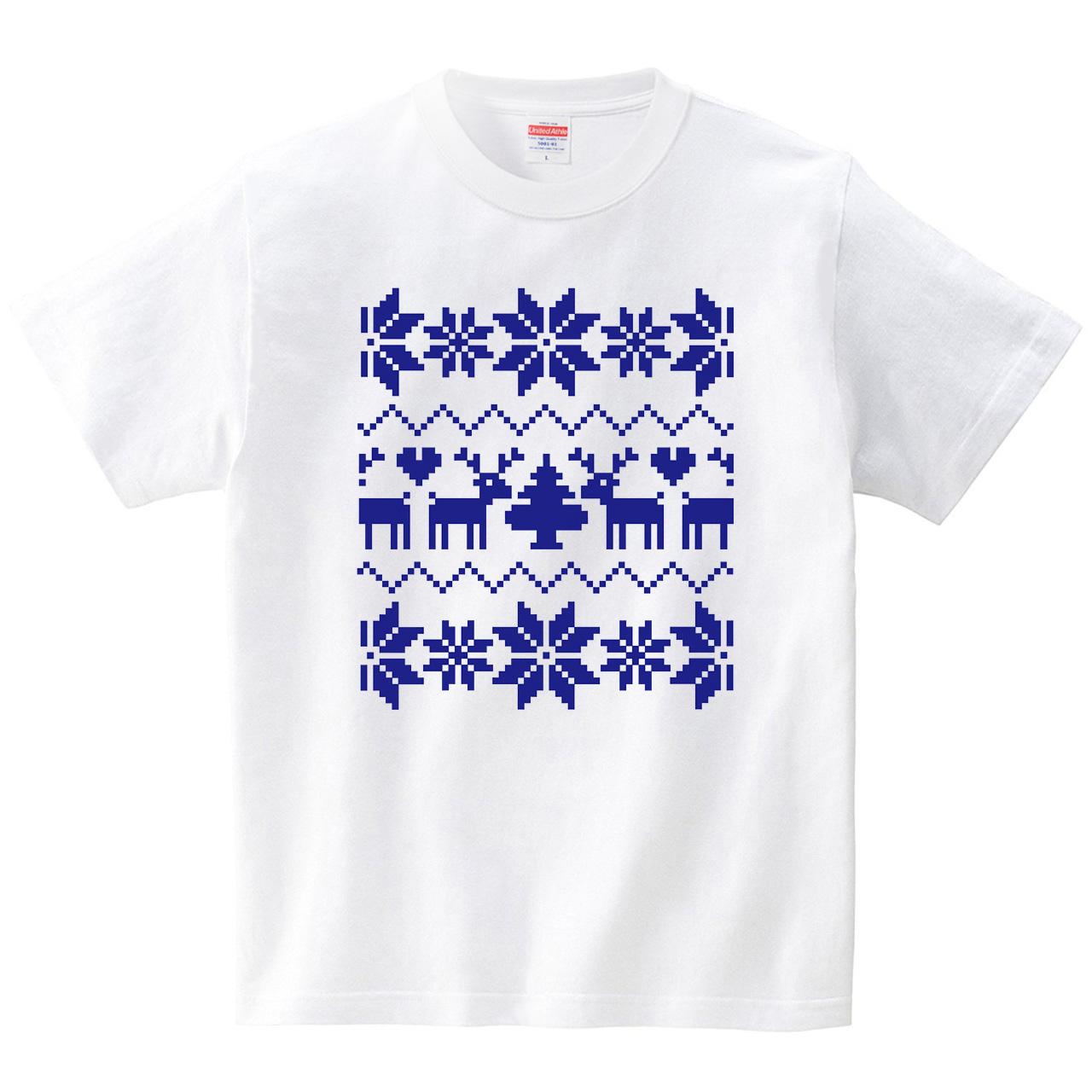 ノルディクなTシャツ(Tシャツ・ホワイト)(CHATON_CATON_T)