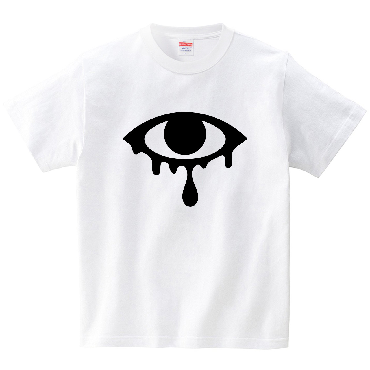涙目(Tシャツ・ホワイト)(犬田猫三郎)