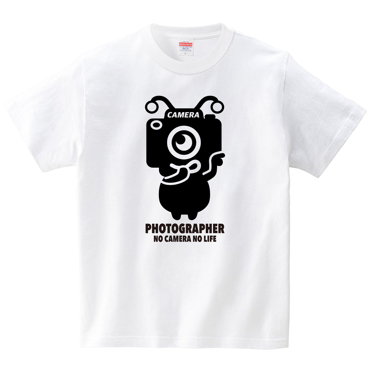 カメラエイリアン(Tシャツ・ホワイト)(HSMT design)
