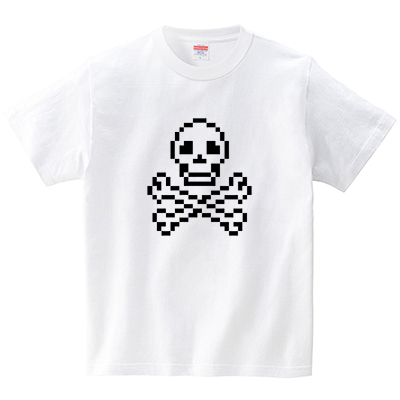 スカルドット(Tシャツ・ホワイト)(犬田猫三郎)